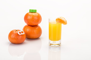real and fresh mandarin juice