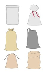 cartoon image of storage sacks