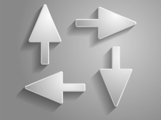 set Vector icon of arrows illustration