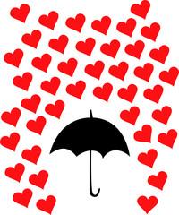 Pluie de coeurs