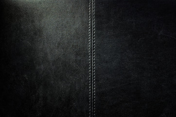 Black dark leather background or texture