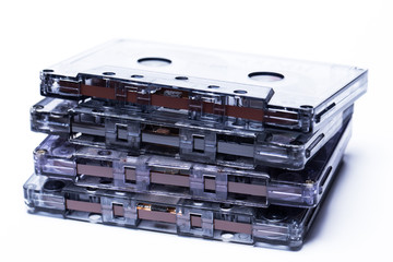 Old fashion magnetic audio tape