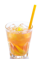 Fresh cocktail with lemon