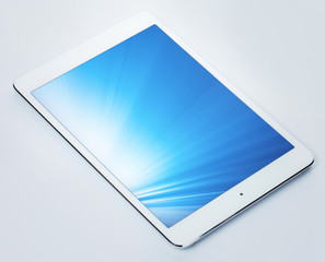 Tablet pc with shining screen