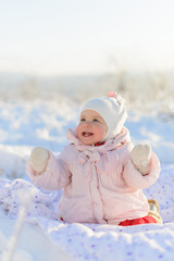 Happy Child in Snow
