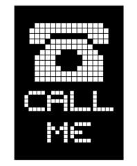 Photo sur Toile Pixel Call me