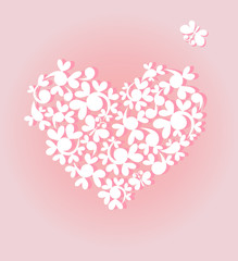 Pink arrival heart