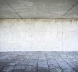 Concrete wall and floor