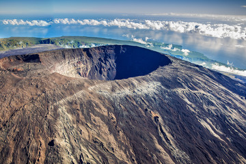 Beautiful view of Crater Dolomieu, Piton de la Fournaise, La Ré