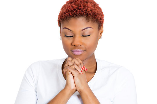 Woman praying asking for forgiveness, help