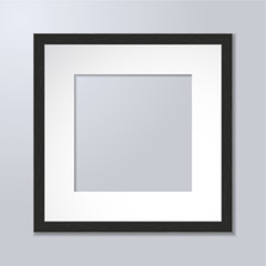 Black wooden frame for art or photos