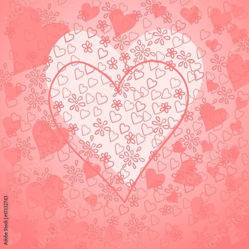 Картинка открытка с сердечком 215