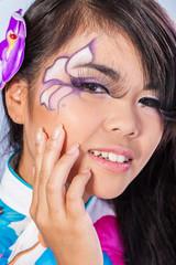 Beautiful asian woman with fashion make-up