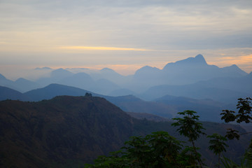 Mountains in sunset in Brazil
