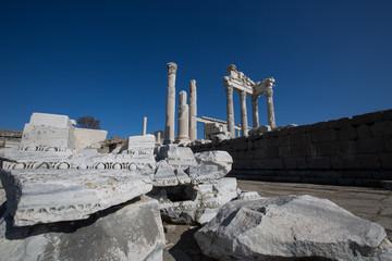old ruins temple of Akropolis Pergamon