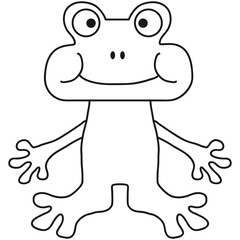 Funny Little Comic Frog