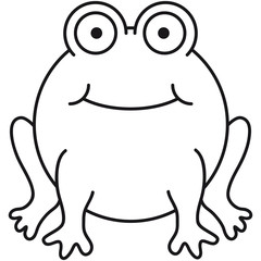 Funny Comic Frog Design