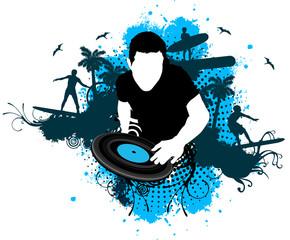 DJ surf mixing