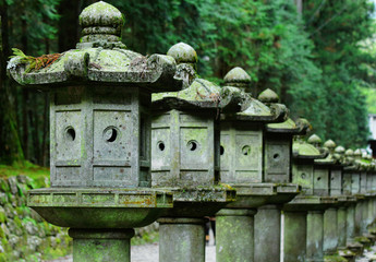 Row of Japanese lantern