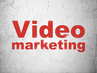 Business concept: Video Marketing on wall background