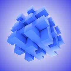 Blaues schwebendes Puzzlespiel