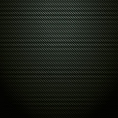 Realistic dark green carbon background, texture. Vector illustra