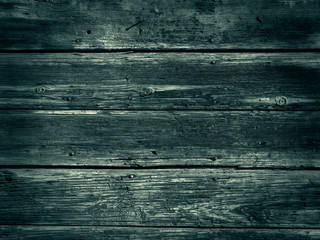 Old Wood Background - Vintage with green and black colors.