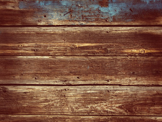 Old Wood Background - Vintage with red and yellow colors.
