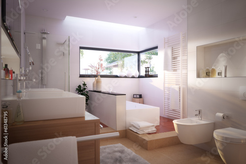 modernes sch nes badezimmer modern bathroom with spa. Black Bedroom Furniture Sets. Home Design Ideas