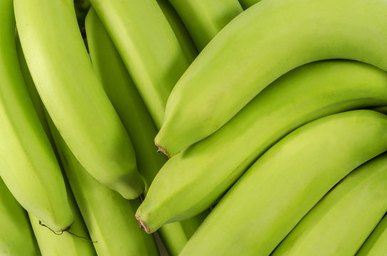 Macro shot of  Bunch of bananas  : Clipping path included