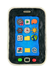Plasticine cartoon smartphone