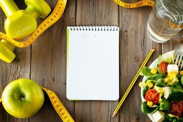 Fitness and healthy food lifestyle concept