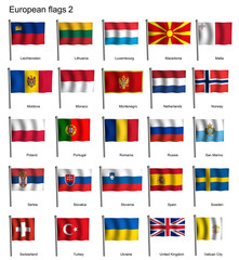 Waving flags of Europe part 2