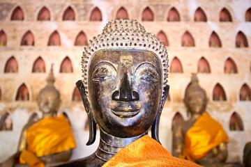 Buddha Image at Wat Si Saket in Vientiane, Laos.