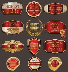 Set of premium golden labels