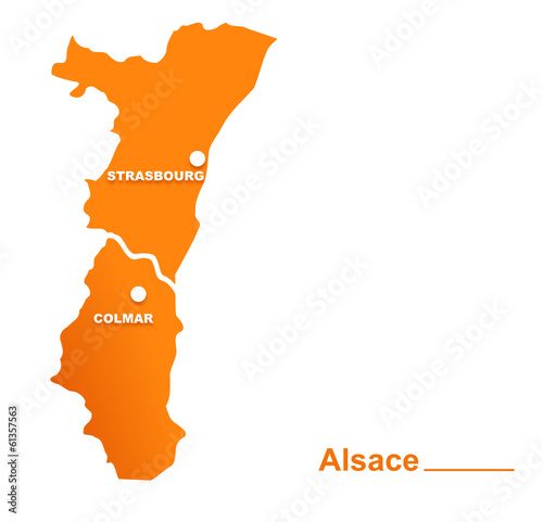 Carte Alsace Vector.Alsace Region Departements Et Villes Stock Image And