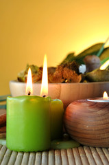 scented candles and salts