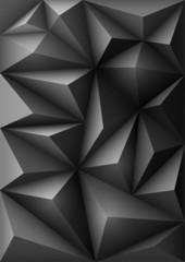Abstract black background in origami style
