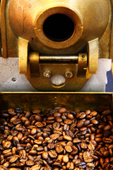 old coffee beans machine