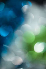 abstract background of a beautiful blue and green festive bokeh