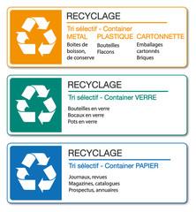 Panneau recyclage.