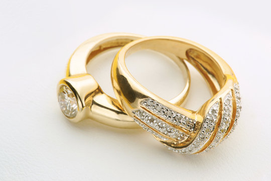 Jewelry Gold rings with diamond