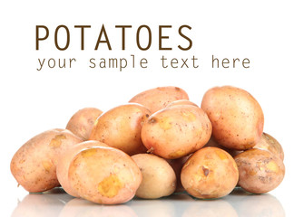 Potato isolated on white