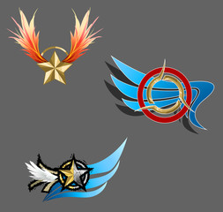 Trendy and fantasy sign icons, create by vector