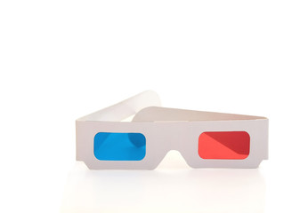 3d stereo glasses isolated on white background