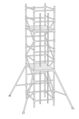 cartoon image of scaffolding for building