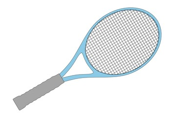 cartoon image of tennis racket