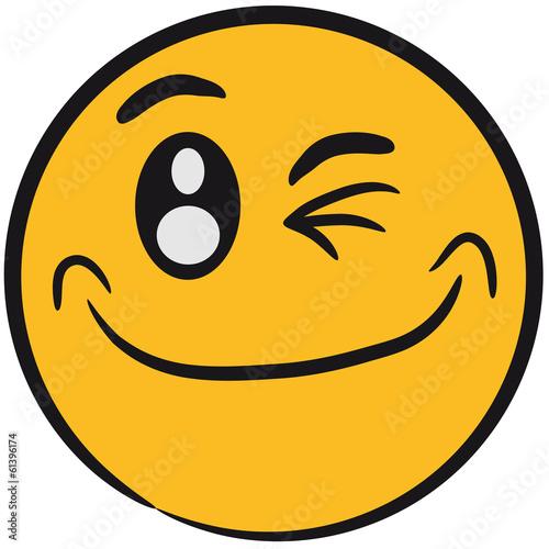 Quot Comic Gesicht Lustig Smiley Zwinkern Quot Stockfotos Und