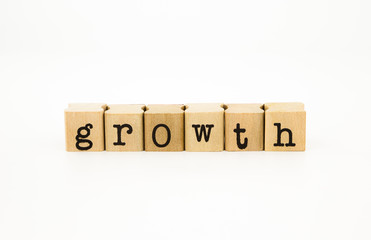 growth wording, business concept and idea