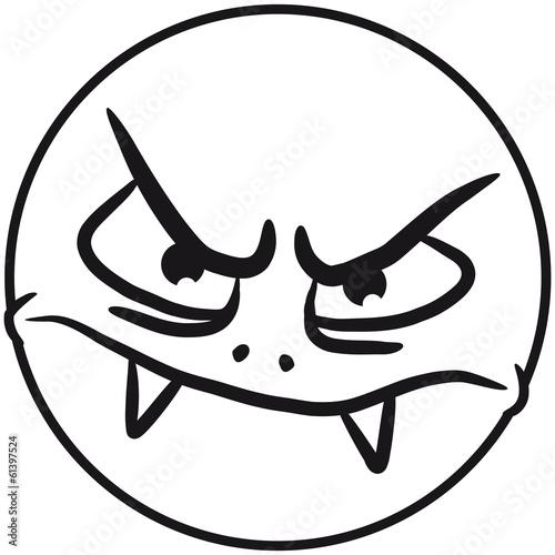 Wütendes Smileygesicht